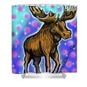 Graffiti Moose Shower Curtain