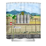 Grain Elevators At Ralston Shower Curtain