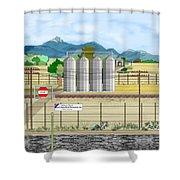 Grain Elevators At Ralston Shower Curtain