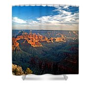 Grand Canyon National Park - Sunset On North Rim Shower Curtain