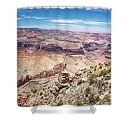 Grand Canyon View From The South Rim, Arizona Shower Curtain
