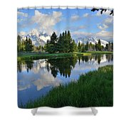 Grand Teton Reflection Shower Curtain