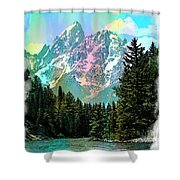 Grand Tetons From The Snake River Shower Curtain