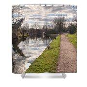 Grand Union Canal Rickmansworth Shower Curtain
