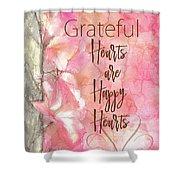 Grateful Hearts Shower Curtain
