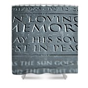 Gravestone In Loving Memory Shower Curtain