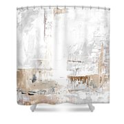 Gray Brown Abstract 12m3 Shower Curtain