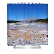 Great Fountain Geyser In Yellowstone National Park Shower Curtain
