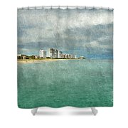 Green And Bluie Shower Curtain