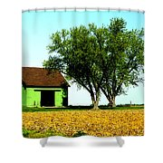 Green Barn  Shower Curtain
