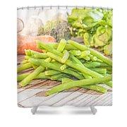 Green Bean Shower Curtain