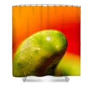 Green Red Liquid Clay Shower Curtain