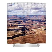 Green River View Shower Curtain