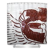 Greeting 10 - Tile Shower Curtain