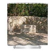 Groupo Mecanxoc At The Coba Ruins  Shower Curtain