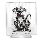 Grumpy Dog Shower Curtain