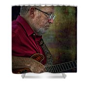 Guitar Picker In The Park On Sunday Shower Curtain