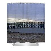 Gulf Beach Pier Shower Curtain