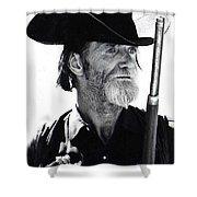 Gun Totting Tombstone Slim Helldorado Days Tombstone Arizona 1968 Shower Curtain