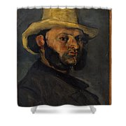 Gustave Boyer B 1840 In A Straw Hat Shower Curtain