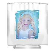 Gwyneth Little Earth Angel Of Happiness Shower Curtain