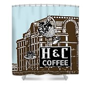 H And C Coffee Sign Roanoke Virginia Shower Curtain