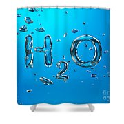 H2o Formula Made By Oxygen Bubbles In Water Shower Curtain