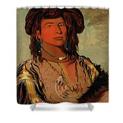 Ha-won-je-tah, One Horn, Head Chief Of The Miniconjou Tribe Shower Curtain