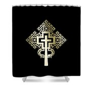 Habesha Holy Cross Shower Curtain