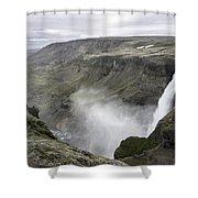 Haifoss Waterfall Iceland 1340 Shower Curtain