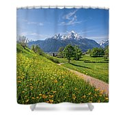 Halfway To Paradise  Shower Curtain