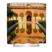 Hall Of The Ambassadors -  Alhambra Granada Shower Curtain