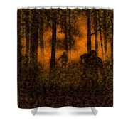 Halloween Horror Zombie Rampage Shower Curtain