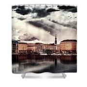 Hamburg At Dusk Shower Curtain