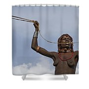 Hamer Tribe Woman, Ethiopia  Shower Curtain