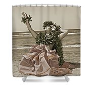 Hand Colored Hula Shower Curtain