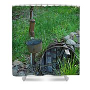 Hand Pump In The Spring Shower Curtain