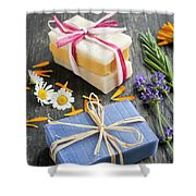 Handmade Soaps With Herbs Shower Curtain