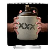 Hands Holding Moonshine Shower Curtain