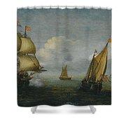 Hans Goderis Dutch Shipping At Sea, 1615 Shower Curtain