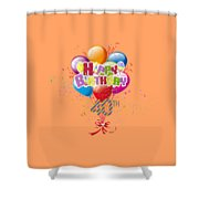 Happy 40th Birthday Shower Curtain