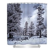 Happy Jack Snow Shower Curtain