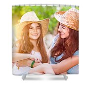 Happy Mother And Daughter Shower Curtain
