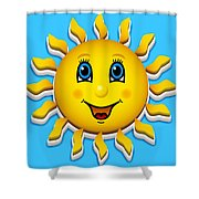 Happy Smiling Sun Shower Curtain