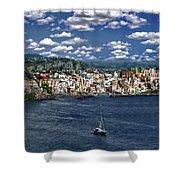 Harbor In Corricella Shower Curtain