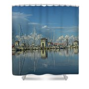 Harbor Morning Shower Curtain