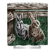 Hare Line  Shower Curtain