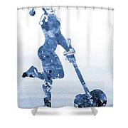 Harley Quinn-blue Shower Curtain