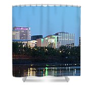 Hartford Skyline Panorama Shower Curtain