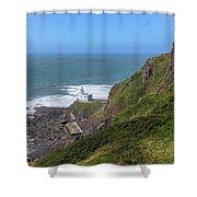 Hartland Point - England Shower Curtain